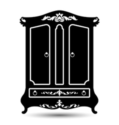 silhouette of cupboard vector image