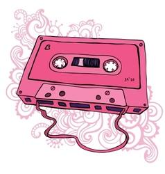Audio cassette Retro cassette tape vector image