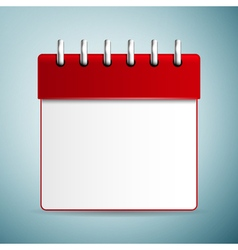 Calendar red icon isolated on blue background vector image