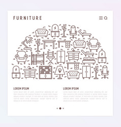 furniture concept in half circle vector image