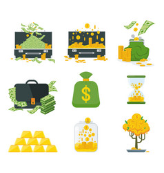kind of money vector image