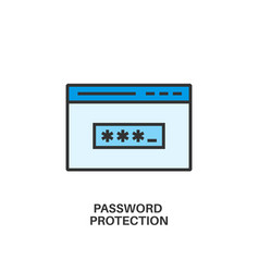 password protection icon vector image vector image