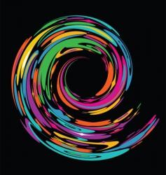 rainbow swirl banner vector image