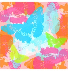 stylised butterflies vector image vector image