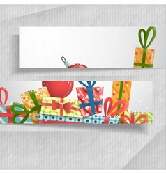 3D Abstract Banners With Place For Your Text vector