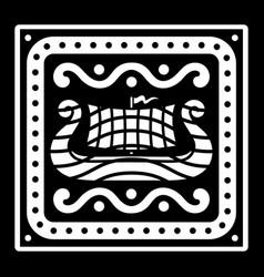 an ancient scandinavian image a viking ship vector image