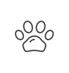 animal paw line icon vector image