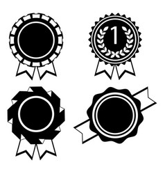 award golden round signs collection elements vector image