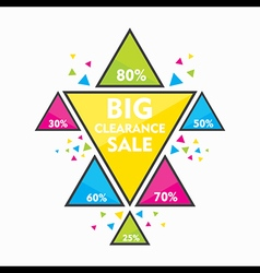 big clearance sale with different discount offer vector image