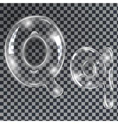 Bubbles letters Q vector image vector image