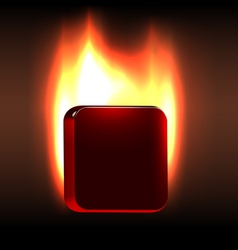 Burning board vector image