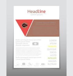 Business brochure flyer design layout template vector