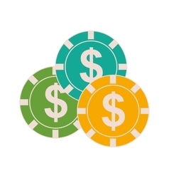 casino money chips vector image