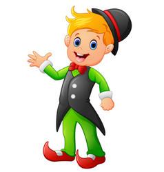 Circus boy cartoon vector