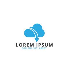 cloud and arrow logo template vector image