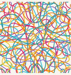 Colorful scribble pattern vector