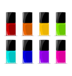 Colors of nail lacquers contained in transparent vector