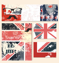 Corporate identity templates set in hipster style vector