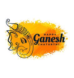 Creative lord ganesha design watercolor festival vector