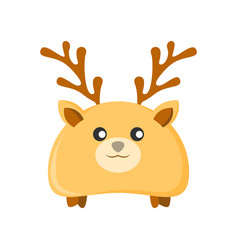 cute deer character animal vector image