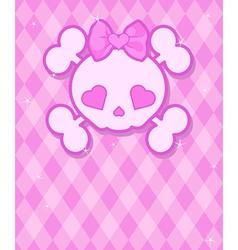 Cute skull background vector