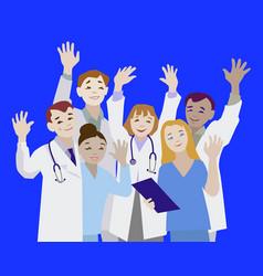 doctor waving vector image