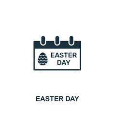 easter day icon creative element design from vector image