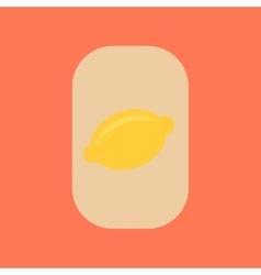 Flat icon stylish background poker lemon symbol vector