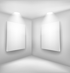 Frames in empty room vector image