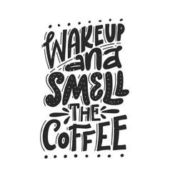 fun coffee lettering vector image