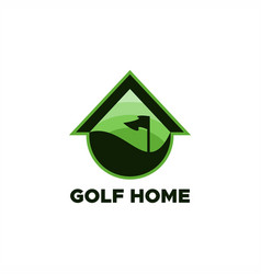 golf home logo vector image