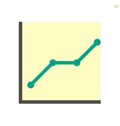 graph shows rise icon design 48x48 pixel vector image