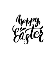 happy easter brush hand lettering vector image