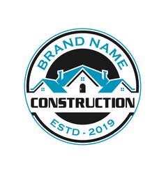 home emblem logo vector image