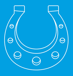 horseshoe icon outline style vector image