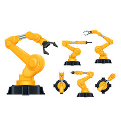 industrial hands factory automatically robots for vector image