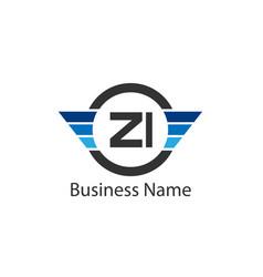 Initial letter zi logo template design vector