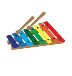 Isolated xylophone toy vector