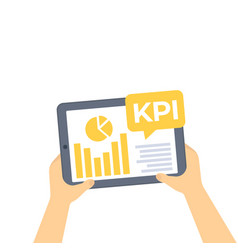 kpi business analytics key performance indicators vector image