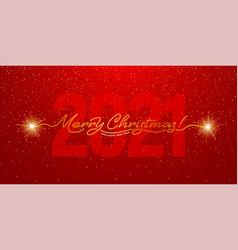 merry christmas 2021 handwritten lettering vector image