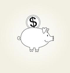 Money box icon vector