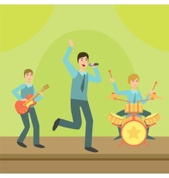 Music Band Performing On Stage vector