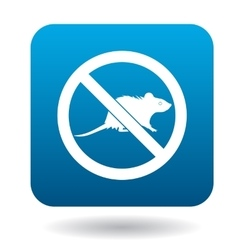 No rat sign icon simple style vector