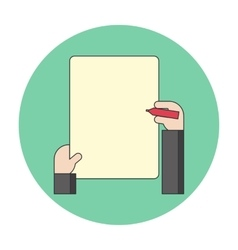 notes on a blank sheet vector image vector image