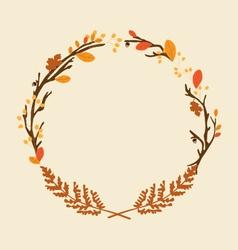 November wreath vector