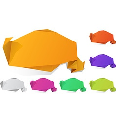 Origami wallpaper vector image