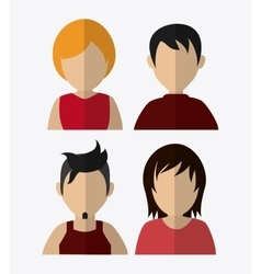 People design Avatar icon White background vector image