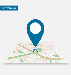 Pin on the map vector