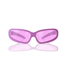 pink sun safety glasses vector image