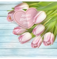 Pink tulips and card EPS 10 vector